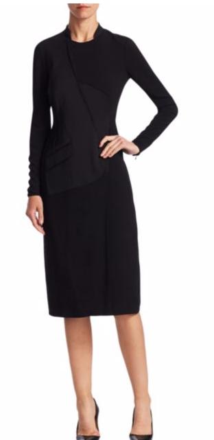 Burberry Paneled Crewneck Dress